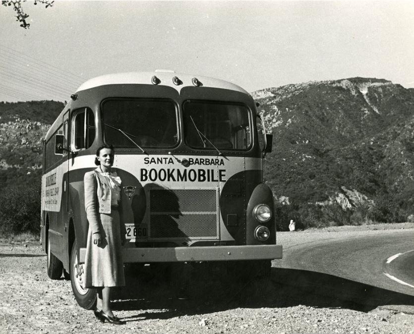 Bookmobile on the San Marcos Pass circa 1948