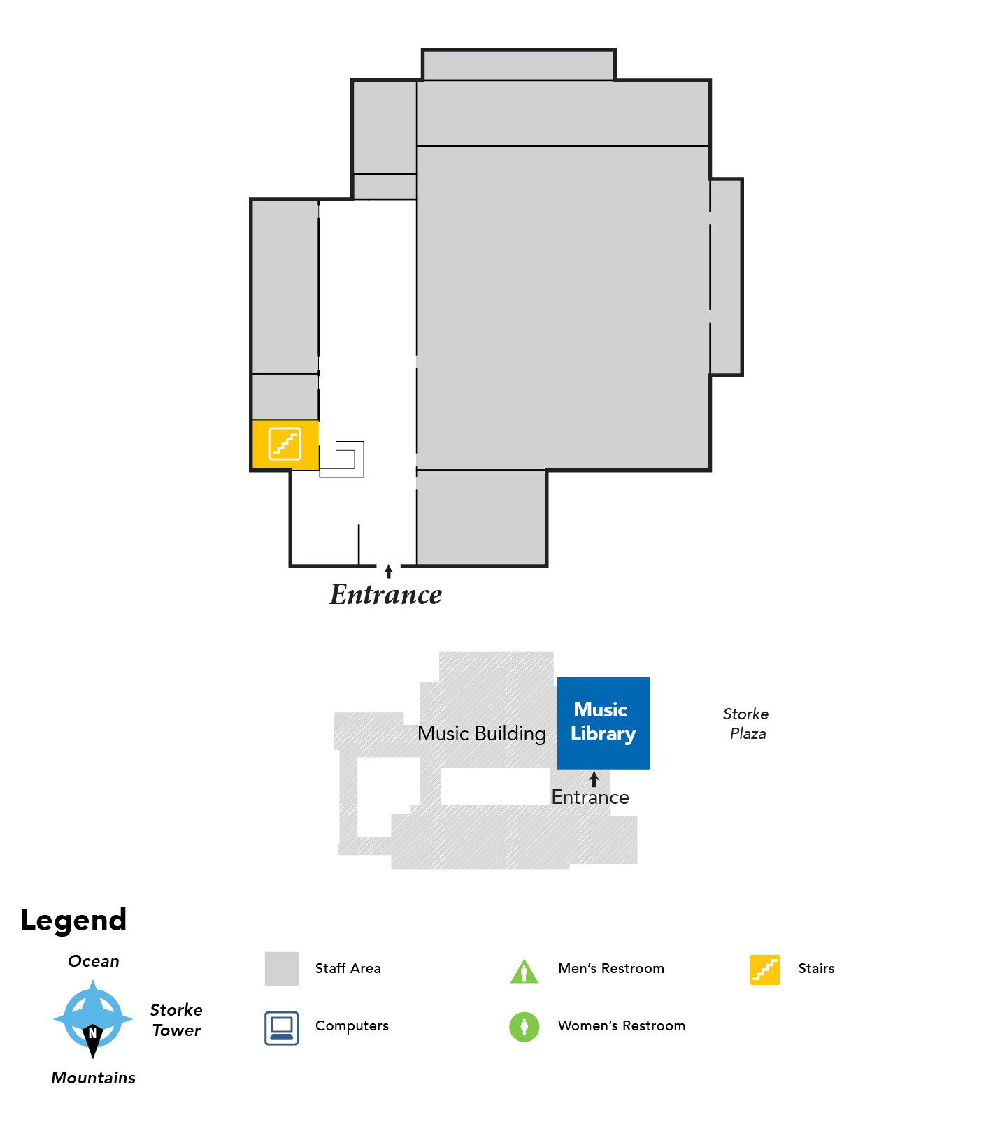 map of floor 1 Music Library