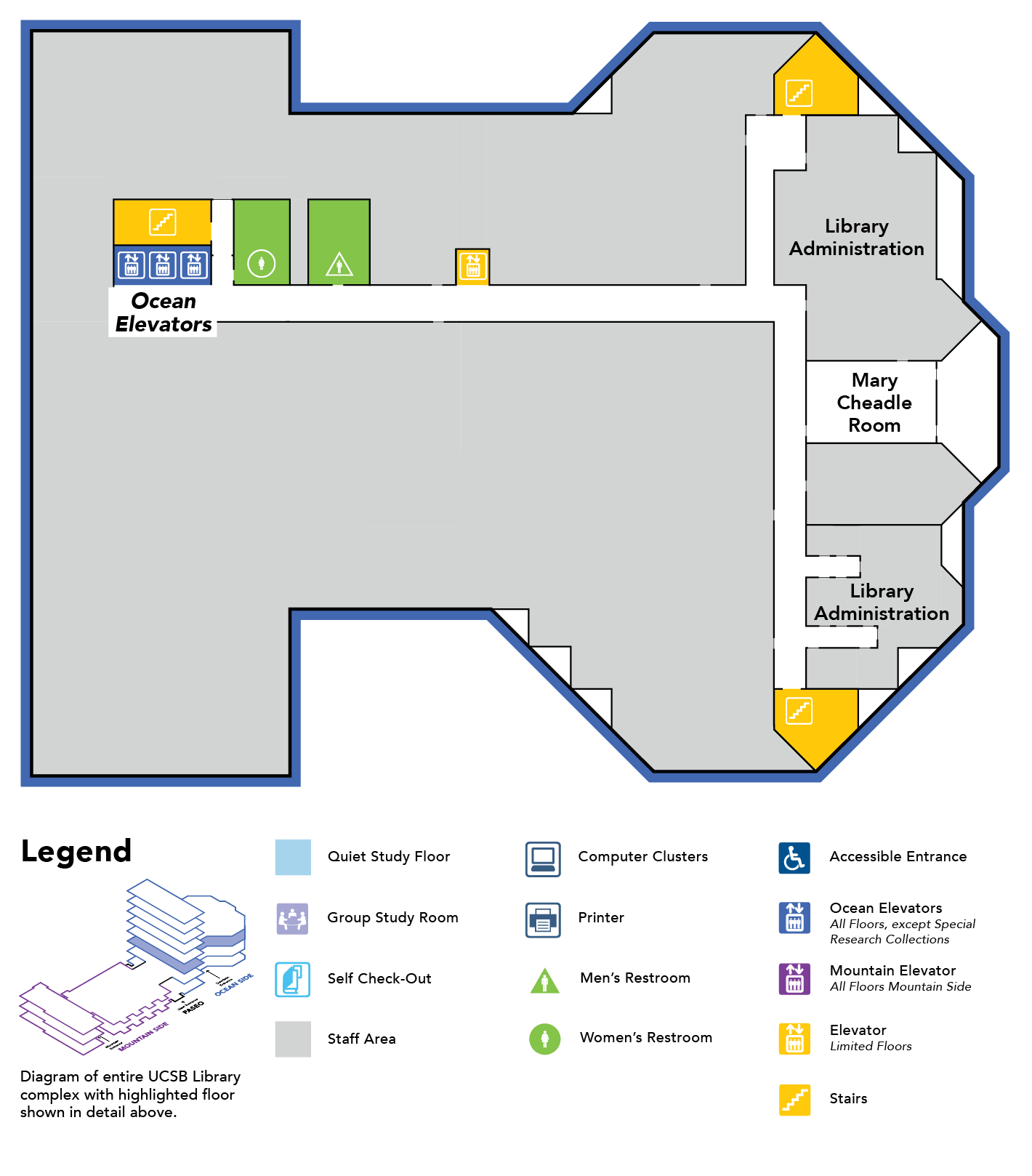 map of floor 3 Ocean Side