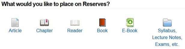 how to place material on course reserves ucsb library