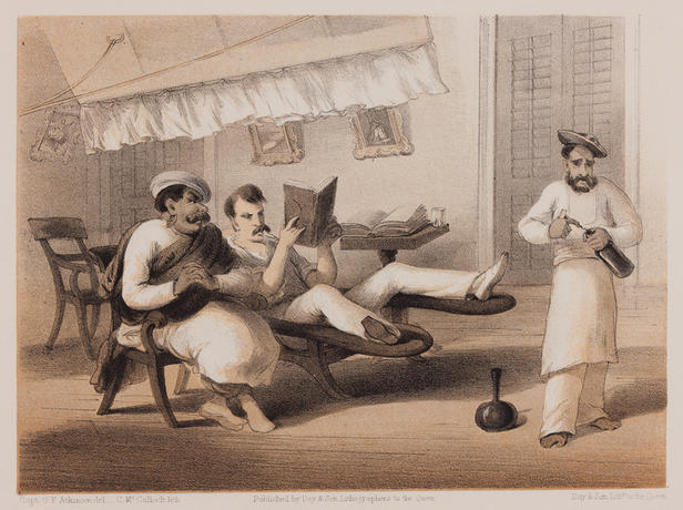 Plate from George Francklin Atkinson, Curry & Rice. London: Day & Son, 1860.