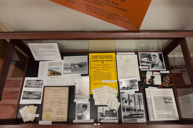 UC Santa Barbara Library Past Display Case