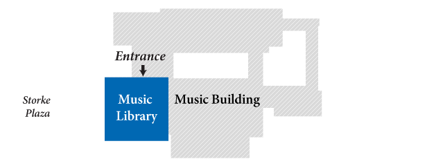 Arts Library within the Music Building footprint