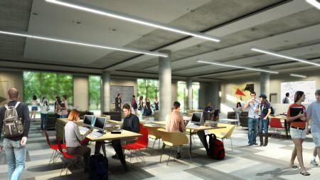 Rendering of 24-Hour Learning Commons
