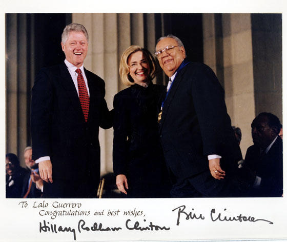 Guerrero with the Clintons, 1996