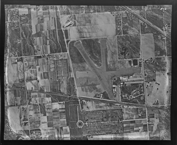 Watson Photo Studios aerial photograph of Burbank airport in January, 1939.