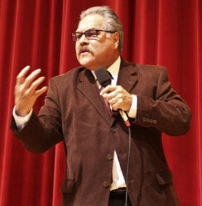 Luis Valdez at the Necessary Theater Conference