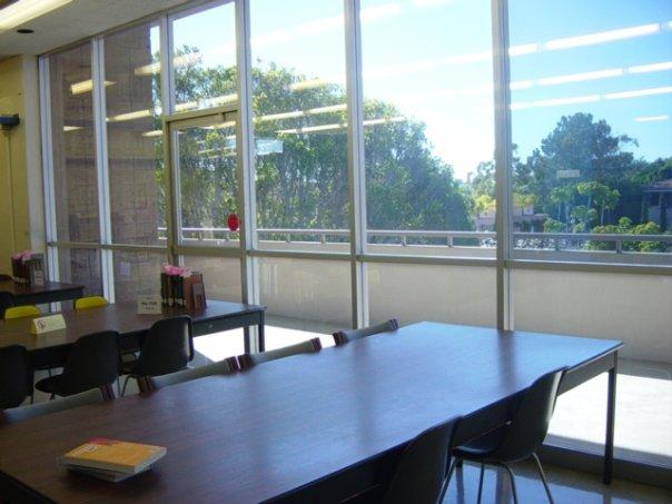 Study area overlooking Storke Plaza