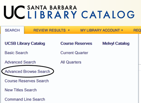 Advanced Browse Search Location on Catalog Page
