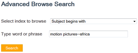 Advanced Browse Search Example