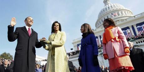 President Obama takes the oath of office