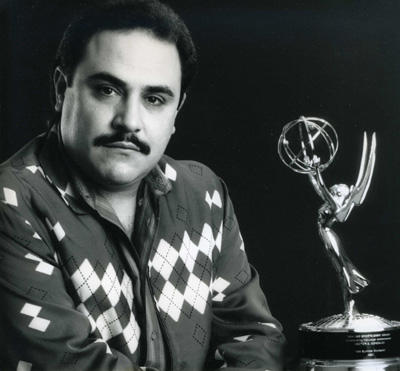Hector Gonzalez with his 1985 ABC Sports Emmy