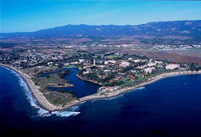 New color photo of UCSB campus