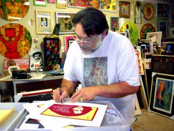 Louie the foot Gonzalez signing print, 2004