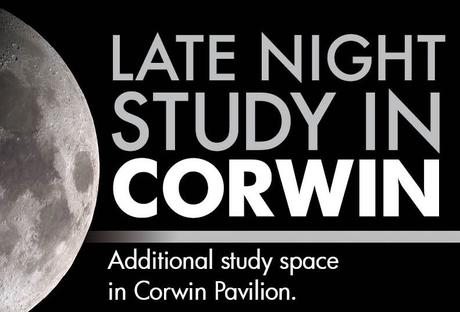 Late Night Study in Corwin Poster