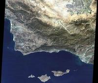 Medium resolution satellite image of Santa Barbara