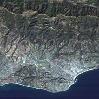 Detail of portion of medium resolution satellite image of Santa Barbara