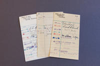 Library checkout cards, 1955-1964