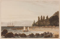 Plate from Thomas and William Daniell, A Picturesque Voyage to India; by the Way