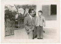 Photograph of Dan Guerrero and his father Lalo Guerrero