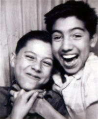 Photograph of Dan Guerrero and artist Carlos Almaraz
