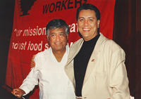 Photograph of Dan Guerrero and Cesar Chavez