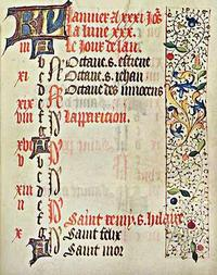 Page from the Santa Barbara Book of Hours (France c. 1480)