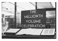 Photograph of The Millionth Volume Celebration display, 1973