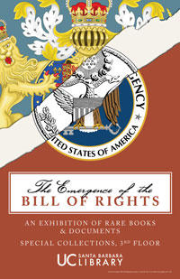 The Emergence of the Bill of Rights exhibition poster
