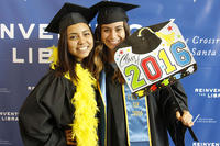 UCSB 2016 graduates at Library photo booth