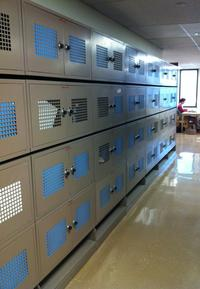 Photo of bank of lockers