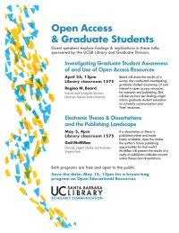 Open Access & Graduate Students