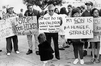 Photograph of UCSB Hunger Strike, 1989