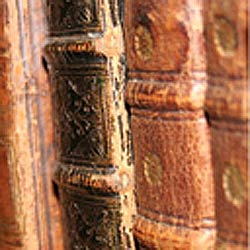 Book spines from Rare Book Collection