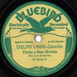 Bluebird recording.