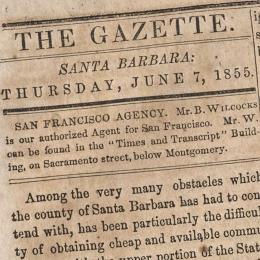Clip from The Santa Barbara Gazette