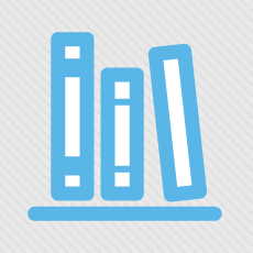 Logo of books on a bookshelf