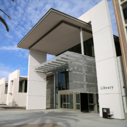 UCSB Library West Paseo Entrance