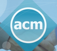 ACM logo with hands shaking in the background