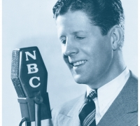 NBC studio photograph of Rudy Valleé.