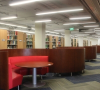 New booth furniture in the library
