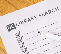 Checklist with UC Library Search at the top.