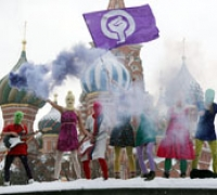 Pussy Riot performs on Red Square