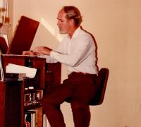 Robert O'Brien playing records.