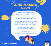 Zine Making Club Flyer