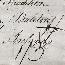Image showing Ballitore, Ireland handwritten in black ink