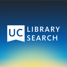 UC Library Search logo on gradient background