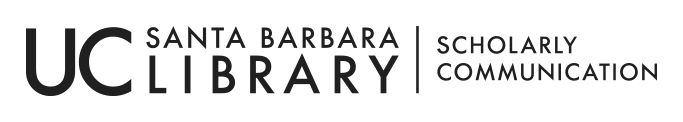 UCSB LIBRARY SCHOLARLY COMMUNICATION LOGO